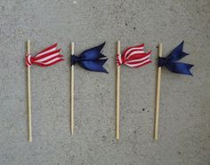 Fourth of July drink stirrers! - Em for Marvelous -