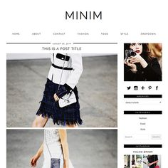 A modern, minimal WordPress theme with a ton of features! Features a responsive design, post layouts, social icons, dropdown menu and much more.