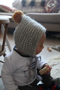simple knitted baby hat