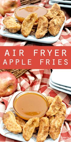 Air Fryer Apple Fries with caramel sauce. This is an easy and delicious fall des. - Dessert Recipes Air Fryer Apple Fries with caramel sauce. This is an easy and delicious fall des. Smores Dessert, Bon Dessert, Fall Dessert Recipes, Fall Recipes, Dessert Food, Caramel Recipes, Delicious Desserts, Food Deserts, Healthy Recipes With Apples