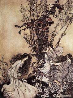 Fairies Dancing - Arthur Rackham (1867-1939)