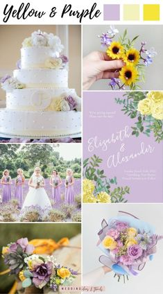 Purple and yellow wedding theme. The combination between purple shades as lavender or lilac and the bright yellow shades creates a soft blooming color combo that screams elegance and beauty. An ideal fresh color palette for an elegant spring & summer wedding. Yellow coordinates well with a variety of other colors, and will add pops of color to your big day. Check out 4 of the most vibrant pastel yellow color schemes for your summer wedding from yellow & blue, orange, and yellow & pink Yellow Shades, Pastel Yellow, Bright Yellow, Blue Orange, Pink Yellow Weddings, Yellow Wedding Colors, Wedding Color Schemes, Summer Wedding Favors, Summer Wedding Decorations