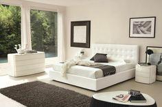 couleur tendance : chambre à coucher en blanc