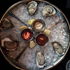 the raw oyster happy hour from Densons Liquor Bar in Washington DC