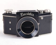 RARE Night Exakta 127 Film Camera+Carl Zeiss Jana Biotar 80mm f/2 @Very Clean@