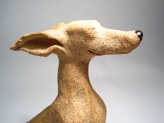 Whippet sculpture by EllensCreatures on Etsy, $75.00