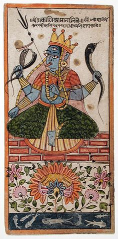 India, Gujarat, South Asia  The Goddess Kalika, circa 1575  Painting; Watercolor, Opaque watercolor and ink on paper    The Los Angeles County Museum of Art