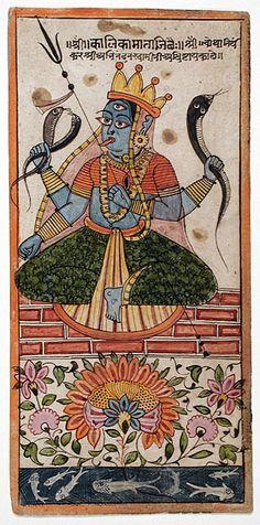 heracliteanfire:    centuriespast:  The Goddess Kalika.Gujarat,circa 1575.The Los Angeles County Museum of Art