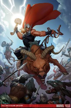 Get an exclusive first look at Esad Ribic's cover to Thor: God of Thunder #16 by Jason Aaron and Ron Garney! What will it take to defeat Malekith? http://marvel.com/news/story/21161/take_a_first_look_at_thor_god_of_thunder_16