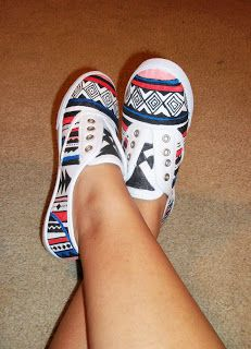 Diy Clothes 3 Diy Shoes Projects (diy Sneakers Boots Fashion U0026 More). Amazing DIY Tribal Print Sneakers
