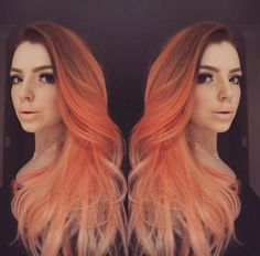 Peach ombre hair