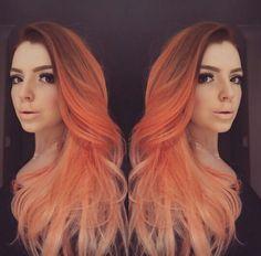 Peach ombre hair