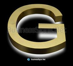 LED Backlit Business Signs With Mirror Polished Gold Plated Stainless Steel Letter Shell Backlit Signs, Halo Effect, Business Signs, Side View, Signage, Indoor Outdoor, Shell, Letter, Surface