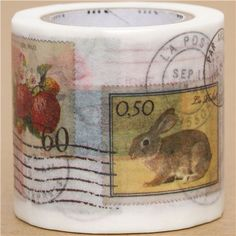wide mt Washi Masking Tape deco tape with stamps 1