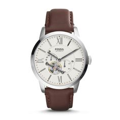 Fossil Townsman - Men Wrist Watch on YOOX. The best online selection of Wrist Watches Fossil. YOOX exclusive items of Italian and international designers - Secure payments Brown Leather Strap Watch, Dark Brown Leather, Seiko, Festina, Fossil Watches For Men, Skeleton Watches, Gents Watches, Women's Watches, Hand Watch