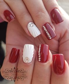 Here are gorgeous nail designs for valentine's day. From the traditional red to pink nail designs and many more. Shiny Nails, Bright Nails, Red Nails, Hair And Nails, Nail Art Designs, Bright Nail Designs, Cute Nails, Pretty Nails, Long Nail Art