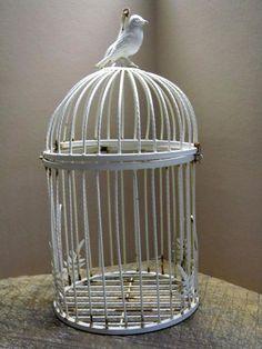 Vintage Rusty Iron Birdcage