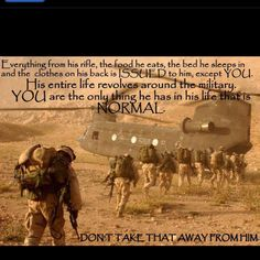 Makes you think, right? For all my other Military wives and girlfriends!