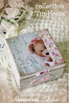 Just look upon the beautiful work of this decoupage artist! Decoupage Box, Decoupage Vintage, Tole Painting, Painting On Wood, Cigar Box Crafts, Craft Projects, Projects To Try, Diy Recycling, Altered Cigar Boxes