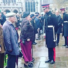 Prince Harry meets veterans in the Field of Remembrance at Westminster Abbey.