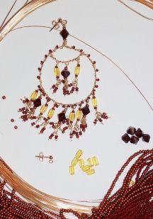 Make your own dangling earrings.