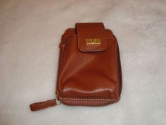 Nice Brown Faux Leather Zip Close Wallet/CC Holder & Cell Phone Pocket Clutch #Unbranded #Bifold