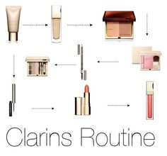 """""""Clarins Routine"""" by crissie-cabrera on Polyvore featuring beauty and Clarins"""
