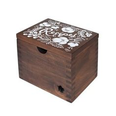 Heirloom Recipe Box Floral, 110€, now featured on Fab.
