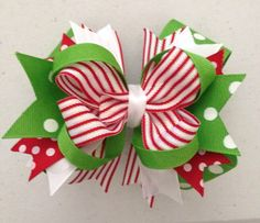 5 Christmas Hair Bow by BittyBittyBowShop on Etsy, 7.00