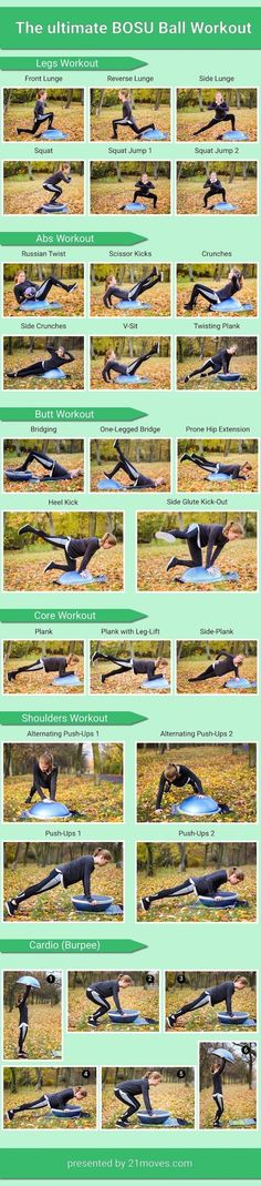 BOSU Ball Workout Infographic