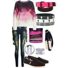 emo scene outfits polyvore - Google Search