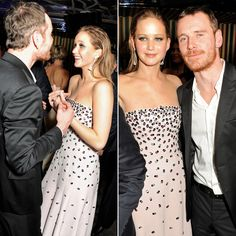 Michael Fassbender and J Law = the cutest