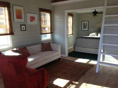 One of our favorite builders has to be Kanga Room Systems. They have a great sense of style, both in the modern and traditional senses. Read moreSimple and Stylish: Kanga Rooms Craftsman Cottage Tiny House Swoon, Tiny House Living, Small House Plans, Cottage Living, Living Room, Living Area, Tiny House Movement, Small Room Design, Tiny House Design