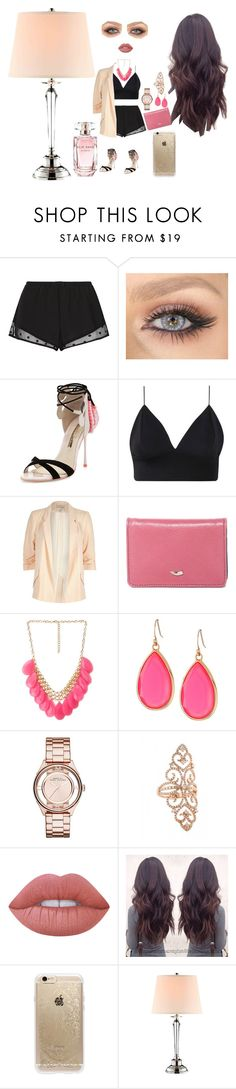 """""""Untitled #19"""" by nourbenjamin-1 ❤ liked on Polyvore featuring Princesse tam.tam, Sophia Webster, River Island, Tusk, Forever 21, Kate Spade, Marc by Marc Jacobs, Lime Crime, Rifle Paper Co and Stein World"""