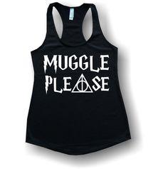 muggle please tank tops shirts v necks by 10DollarShirts on Etsy, $19.99 Black, Jersey Tank, Size M
