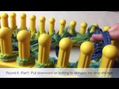 Loom Knit Cross Stitch Cowl on Zippy - YouTube                                                                                                                                                                                 More