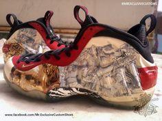 promo code e5583 6d8de Nike Air Foamposite Pro Yeezus Custom Sneakers, Custom Shoes, Air  Foamposite Pro, Clean