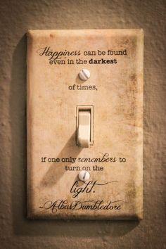 Albus Dumbledore Zitat Lichtschalter Platte Harry Potter
