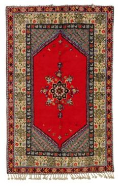 A MOROCCAN CARPET Types Of Rugs, Moroccan, Bohemian Rug, Auction, Carpet, Interior, Indoor, Rugs, Blanket