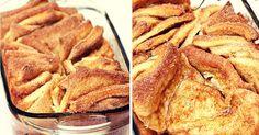 recept na lahodné skořicové trhance s javorovým sirupem Apple Pie, French Toast, Bread, Breakfast, Desserts, Food, Syrup, Morning Coffee, Tailgate Desserts