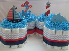 Ensemble de 4 couches nautique Mini gâteaux par SHELOVESGLITZ