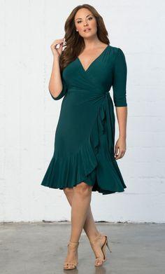 37e3386d672d7 Whimsy Wrap Dress-Sale! Plus Size Cocktail Dresses