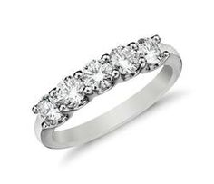 Five Stone Diamond Ring in 14k White Gold (1 ct. tw.)