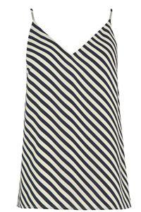 Diagonal Stripe V Neck Cami