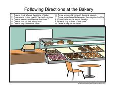 Following Directions-Loaded Scenes with multiple directions. From Adventures in Speech Pathology. Pinned by SOS Inc. Resources.  Follow all our boards at http://pinterest.com/sostherapy  for therapy resources.