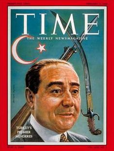 TIME Cover: Adnan Menderes a great man. Turkic Languages, Semitic Languages, Dna Genealogy, Time Magazine, Magazine Covers, Blue Green Eyes, Indian Language, Good Old Times, Nostalgia
