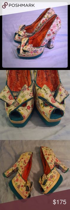Irregular choice floral high heels size 6 European size 36, would fit a size 6. Some dirt and dust marks from being in storage but these have never been worn. Does not come with original box. Modcloth Shoes Heels