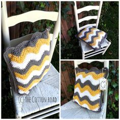Sassy & Sharp Chevron Pillow by TheCottonRoad on Etsy, $45.00