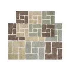 Chesapeake Berkeley Bricks Tufted 2-pc. Bath Rug Set, Beig/Green (Beig/Khaki)