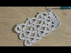 Towel Edge Making, Crochet Knit Towel Edge Model Making, Croc . - Crochet Clothing and Accessories Filet Crochet, Crochet Motifs, Crochet Shawl, Crochet Doilies, Crochet Flowers, Crochet Lace, Crochet Stitches, Youtube Crochet, Knitting Patterns